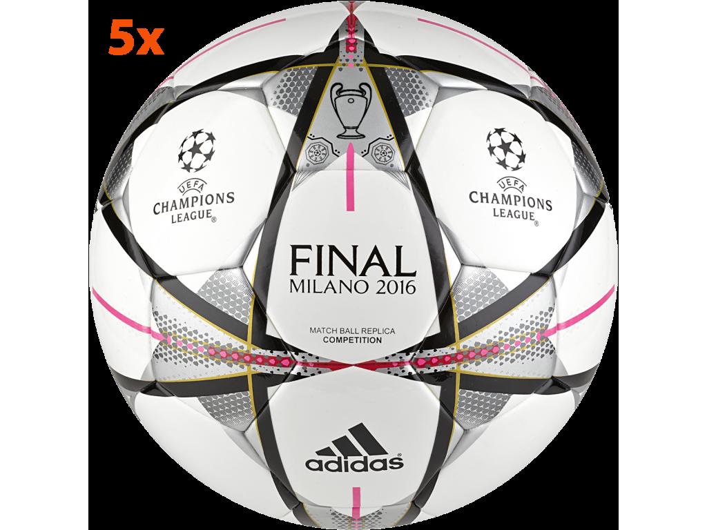 5x Fotbalový míč adidas Finale Milano Competition