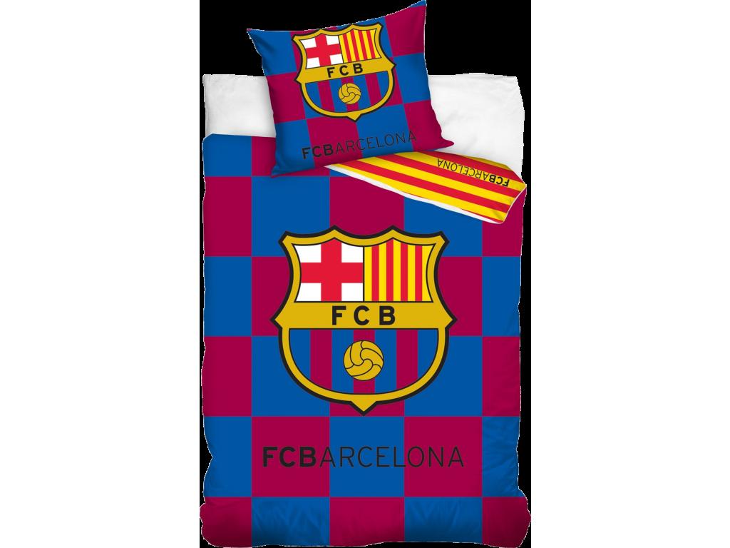 Povlečení FC Barcelona kostkované