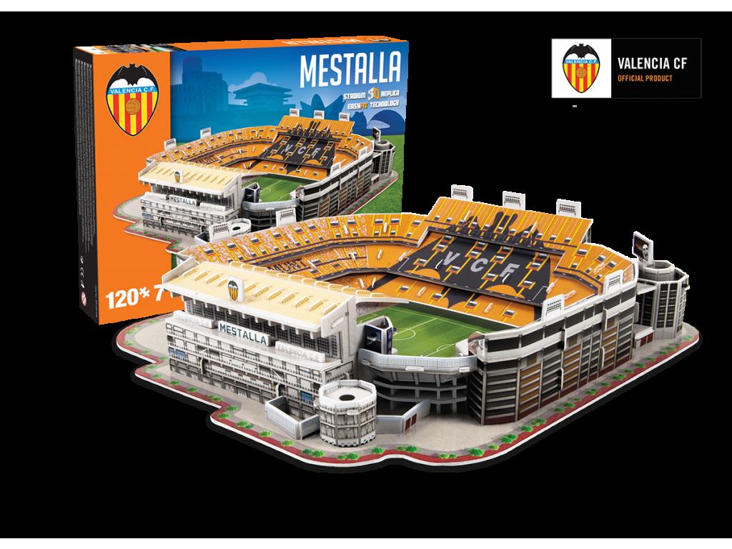3D Puzzle - Fotbalový stadion Mestalla Valencia CF